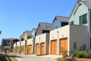 Row of Houses & Garages