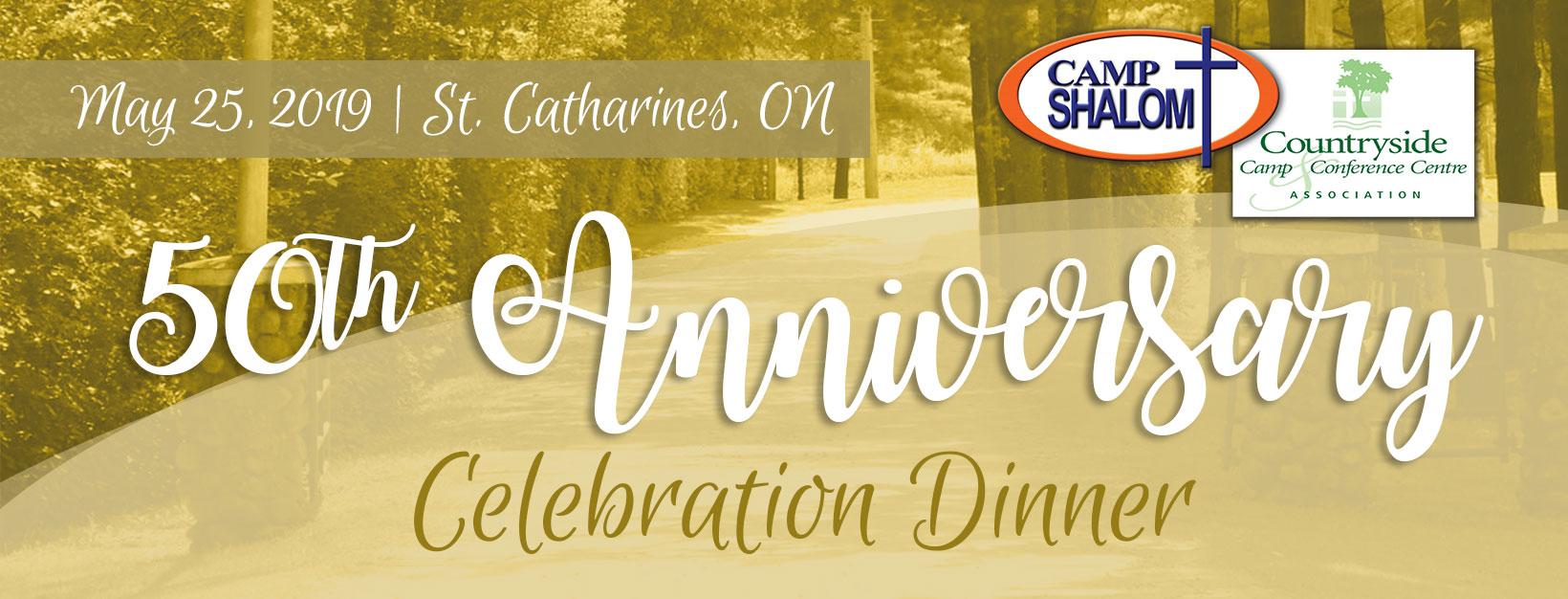 50th Anniversary Celebration Dinner for Camp Shalom