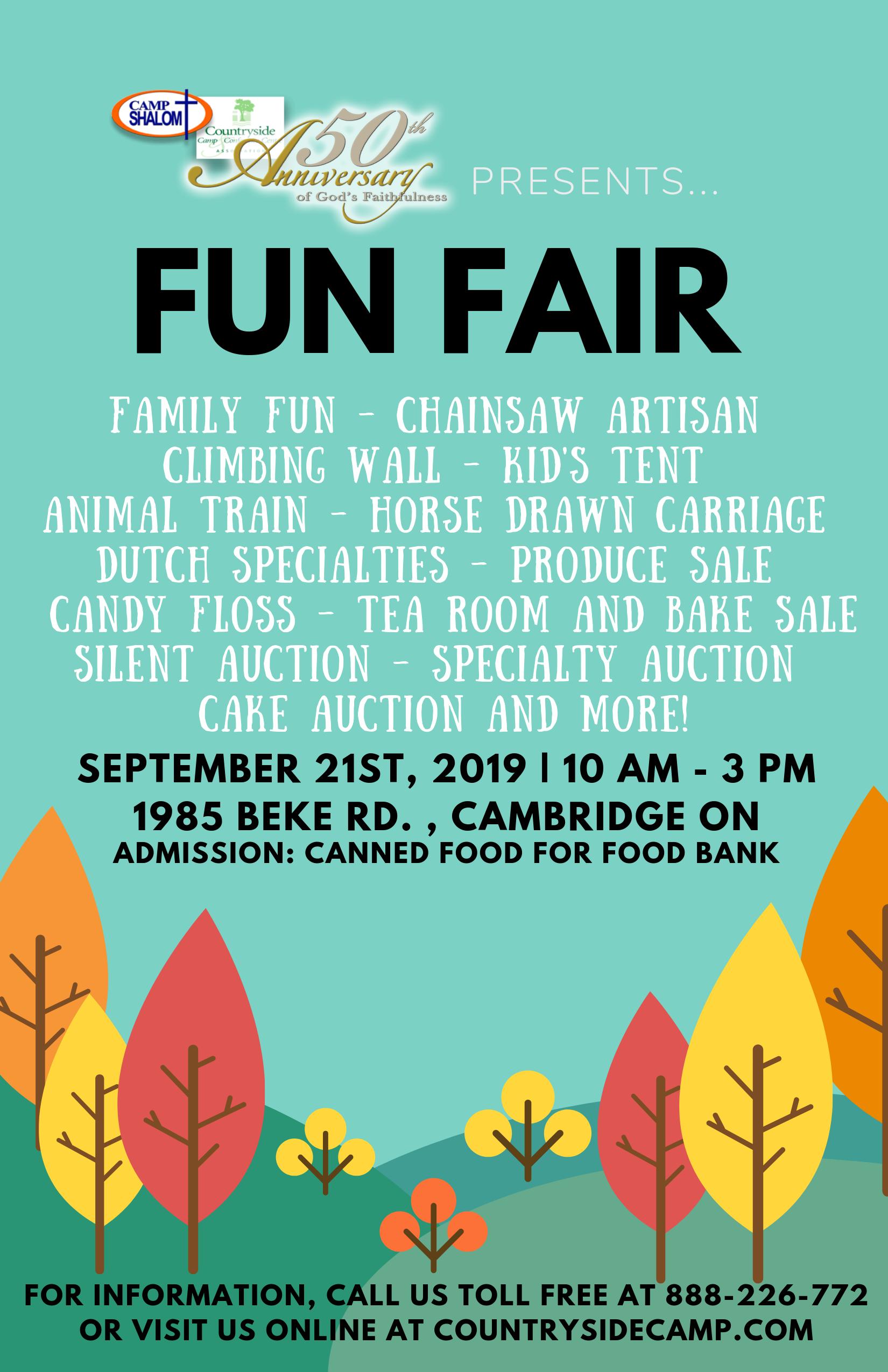 Camp Shalom | Ontario Christian Camp Fun Fair